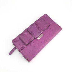 kate spade Bow Tie Purple Wallet ✨♠️💜✨